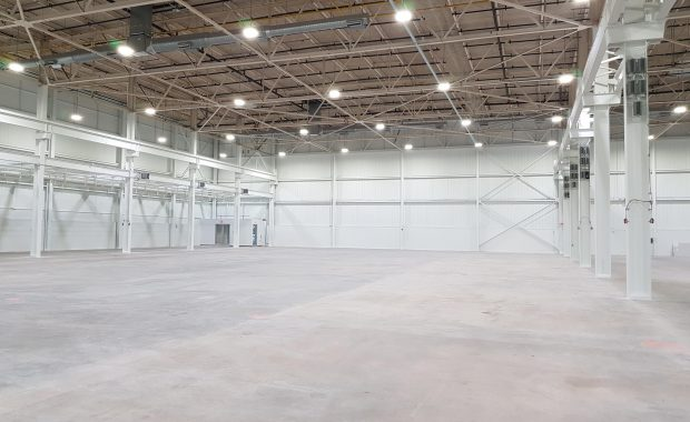 build indoor soccer center from a warehouse